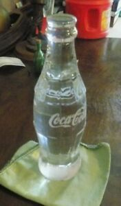 Collectible  Coca-Cola Solid Clear Glass Coke Bottle Collectible  10oz