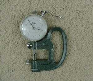 Vintage Teclock Thickness Gage Dial Indicator 0 0001 With Handle 0 05 Range