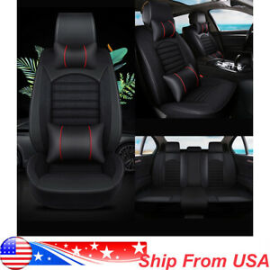 Leather Car Seat Cover For Dodge Ram 1500 2500 2013 2017 5 Seat Full Set Cushion