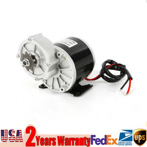 New 2poles Electric Vehicle Geared Motor With Free 24v 350 W 300 Rpm Sprocket Us