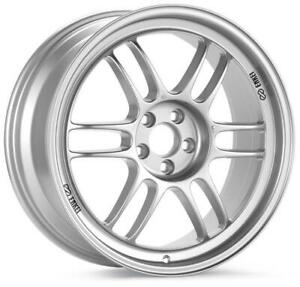 Enkei Rpf1 18x8 5x100 45mm Offset 56mm Bore Silver Wheel Rims 02 10 Wrx