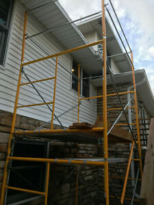 Badger Ladder 11 5 Feet High Scaffold Rolling Tower 5x7 Feet Aluminum Planks
