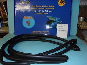 1938 Deluxe 1939 1940 Ford 2 And 4 Door Sedan Trunk Decklid Rubber Seal