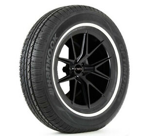 2 P215 75r15 Hankook Optimo H724 100s White Wall Tires