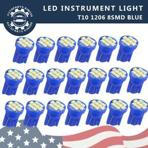 20x Ice Blue T10 8 Smd Led Car Instrument Panel Dash Interior Light 158 2825 W5w