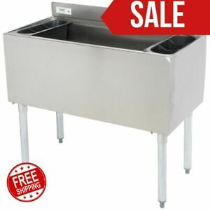 18 X 36 Underbar Stainless Steel Restaurant Bar Ice Bin 119 Lb Ice Capacity