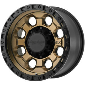 4 american Racing Ar201 16x8 8x6 5 0mm Bronze black Wheels Rims 16 Inch