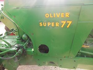 Oliver Super 77 Tractor Nice Factory Oliver Back Side Cover Curtain Panel Panels