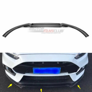 Carbon Fiber Front Bumper Spoiler Lip Cover For Ford Focus Rs St 2016 2017 2018