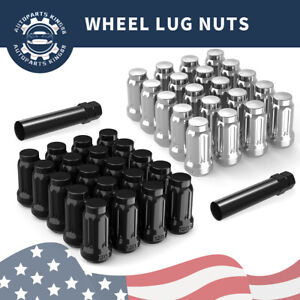20 12x1 5 Lug Nuts Lock Key 5x114 3 5x4 5 For Ford Chevy Honda Acura Wheel
