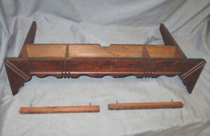 Antique 1889 Walnut Singer Treadle Sewing Machine Center Middle Pull Out Drawer