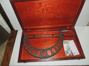 Xl Vintage Browne And Sharpe Micro Meter Caliper W Original Box