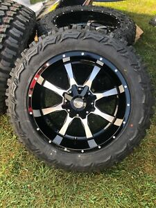 20x10 Black Moto Metal Mo970 33 Mt Wheels Rims Tires 8x6 5 Chevy Silverado 2500