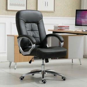 Adjustable Recliner Executive Reclining Office Chair High Back Computer Black