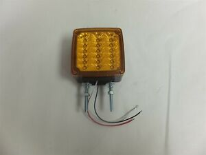 Ecv5fptmk Sound Off Curb Side Amber Red Two Stud Mount Led Dual Face