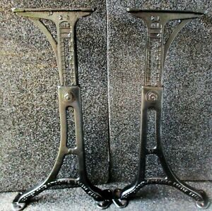 Kenney Bros Wolkins Antique Cast Iron Adjustable Table Legs 5 24 1 4 High