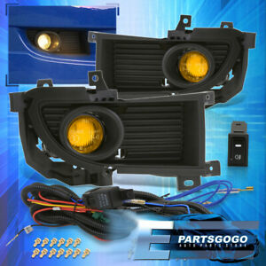 For 04 06 Mitsubishi Lancer Yellow Lens Fog Lights Driving Lamps Replacement Kit