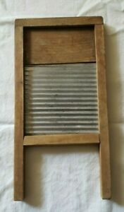 Vintage Small Wood Tin Children S Doll Clothes Laundry Washboard 11