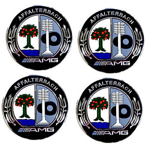 Wheel Center Caps Set Of 4 75mm Affalterbach For Mercedes Benz Amg Apple Tree