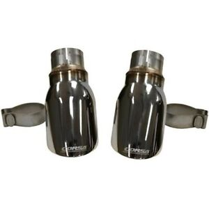 14977 Corsa New Exhaust Muffler Tail Tips Pipes Set Of 2 Sedan For Charger Pair