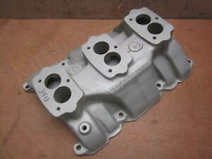 Offenhauser 3413 Buick 322 Nailhead 1953 56 Offy 3 2 Duce Intake 3 bolt 97 Carb