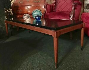Vintage Mcm Lane Mahogony Cocktail Coffee Table Style 60 S Raised Laminate Top
