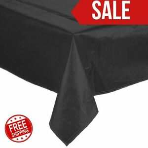 25 Yard Roll Black Vinyl Table Cover With Flannel Back Party Birthday Wedding