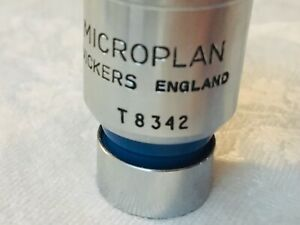 Microscope Part Vickers England Uk Objective Microplan 20x Optics As Is 21 a 22