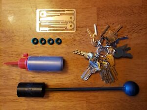 Emergency First Responder Depth Key Set With Bump Hammer And Access Control Keys