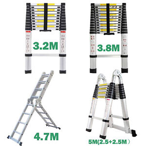 10 5 16 5ft Multipurpose Aluminum Ladder Fold Extend Telescopic Garden Tool