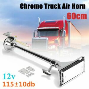 115 10db Loud Truck Air Horn Single Long Tube Trumpet For Big Rigs 12v Universal