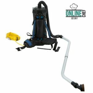 Commercial Janitorial 6 Qt Backpack Vacuum W Hepa Filtration 8 Piece Tool Kit