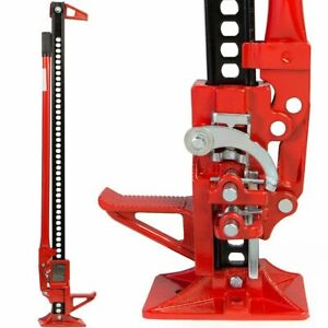 3ton Off Road Ratcheting Farm Jack Suv Truck High 48 Lift Bumper Tractor Red