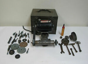 Precision Dumore 44 011 Tool Post Grinder W Case Motor Spindle