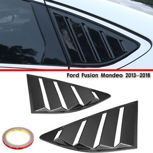 Black Quarter Louver Cover Vent Side Window For Ford Fusion Mondeo 2013 2018