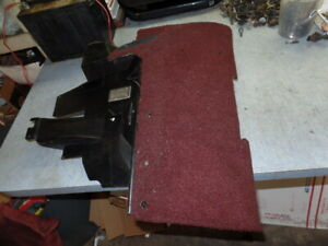 1992 1993 Corvette Under Dash Panel Left Ruby Red Automatic Gm