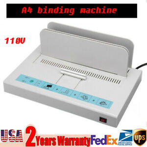 A4 Size Electric Hot Melt Book Binding Machine Thermal Binder Thickness 50mm Usa