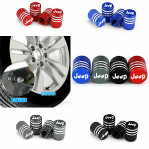 Universal Jeep Logo Alu Alloy Tire Valve Caps For Car Bicycle Valve Stem Cover