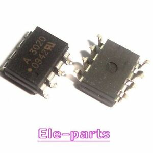 10 Pcs Hcpl 3020 Smd 8 Hcpl3020 A3020 Optocoupler