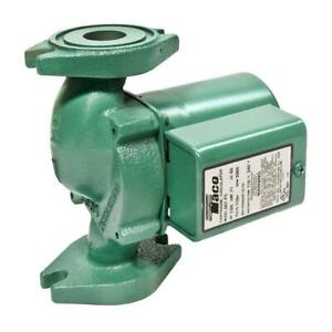1 25 Hp Pump Circulator Cast Iron Taco Quiet Hydronic Boiler Replacement Heating