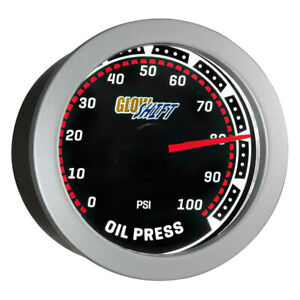 Glowshift Universal Tinted Oil Pressure Gauge 52mm 0 100 Psi