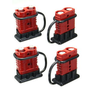 4pcs 175a 600v Battery Quick Connect Disconnect Winch Plug Connector 1 0 2 4 Awg