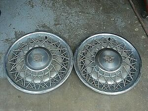 2 1975 1984 Cadillac Deville 15 Wire Spoked Hubcap Hub Cap Wheel Cover Oem
