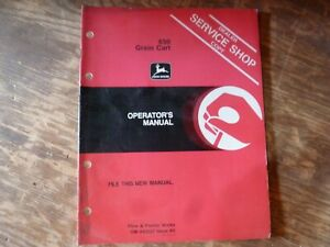 John Deere 650 Grain Cart Owner Owner s Operator Maintenance Manual Om a42227