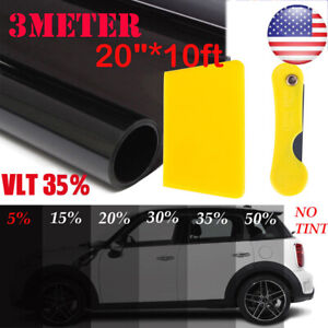 Uncut Window Tint Roll 35 Vlt 20 10ft Feet Home Commercial Office Auto Film Car