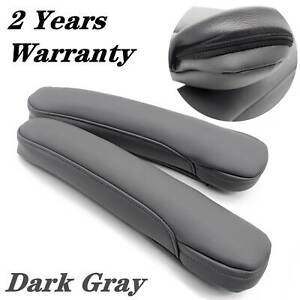 Leather Front Seat Armrest Replacement Cover Fit For Honda Odyssey 2005 10gray