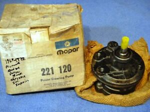 1966 1972 Plymouth Dodge Dodge Truck Chrysler Imperial Mopar Power Steering Pump