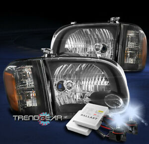 For 2005 2006 Toyota Tundra Double Cab sequoia Headlight Lamp Black W 8k Hid Kit