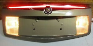 03 2007 Cadillac Cts Tail Trunk Panel Lid License Plate Housing Gold