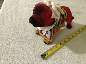 Vintage Dog Figure Chinese Statue Souvenir 9 X 7 Asian Oriental Doll Toy